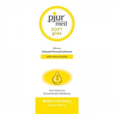 Пробник силиконовый лубрикант с жожоба Pjur Med Soft Glide 1,5 мл