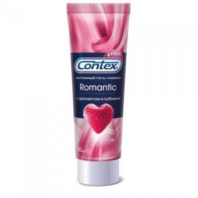 Гель-смазка Contex Romantic с ароматом клубники 30 мл