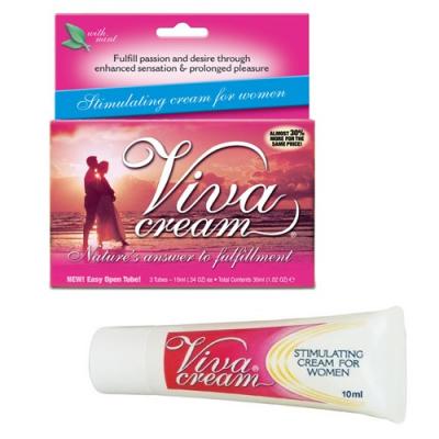 Возбуждающий Крем Viva Cream для женщин 3 тюбика по 10 мл