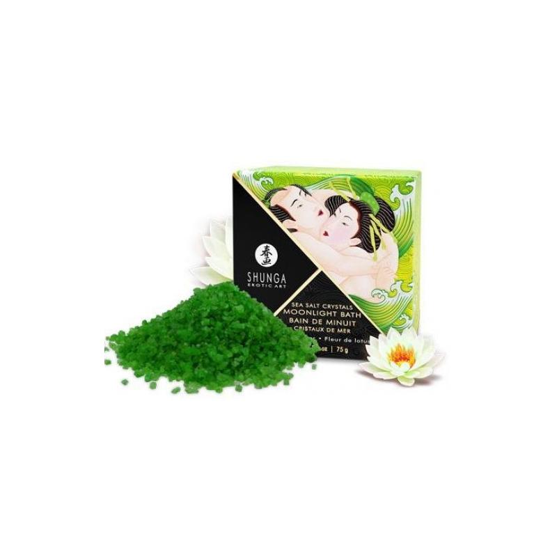 Соль мёртвого моря Shunga Moonlight Bath Lotus Flower с ароматом лотоса 75 гр.