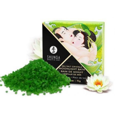 Соль мёртвого моря Shunga Moonlight Bath Lotus Flower с ароматом лотоса 75 гр.