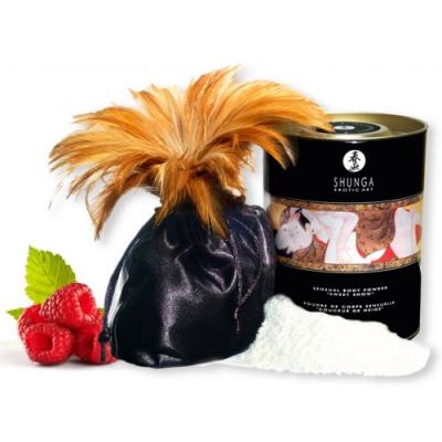 Съедобная пудра для тела Shunga Raspberry Feeling с ароматом малины 228 гр