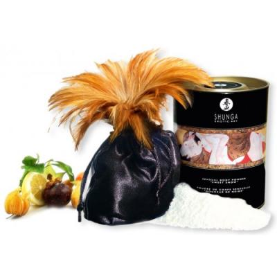 Съедобная пудра для тела Shunga Exotic Fruits с ароматом экзотических фруктов 228 гр