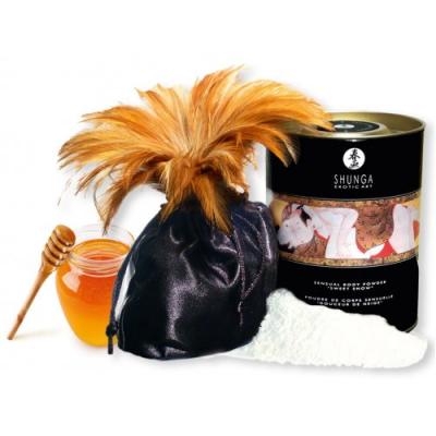 Съедобная пудра для тела Shunga Honey of the Nypmphs с ароматом меда 228 гр