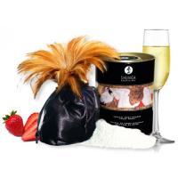 Съедобная пудра для тела Shunga Strawberry Sparkling Wine с ароматом клубники и шампанского 228 гр