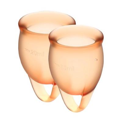 Набор менструальных чаш Satisfyer Feel Confident, оранжевый
