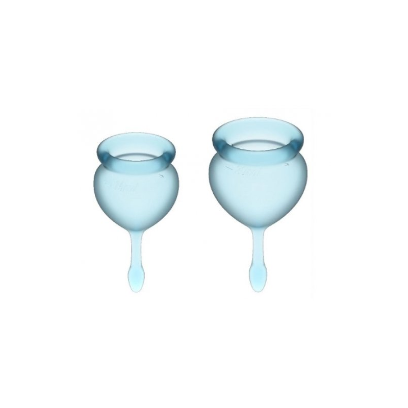 Набор менструальных чаш Satisfyer Feel Good, голубой