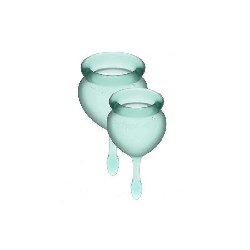 Набор менструальных чаш Satisfyer Feel Good, зеленый