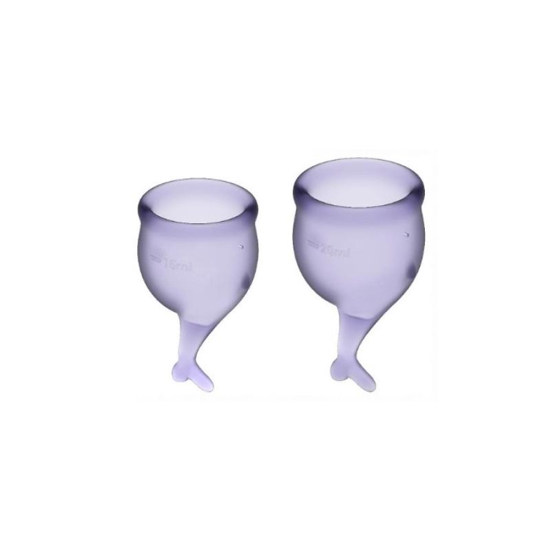 Набор менструальных чаш Satisfyer Feel Secure, лиловый