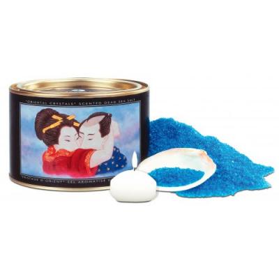 Соль мёртвого моря Shunga Bath Salts Ocean Temptations + свеча, 600 гр.