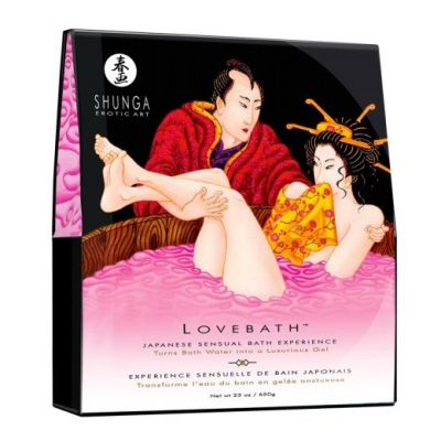 Гель для ванны Shunga Драконов фрукт, розовый, 650 г