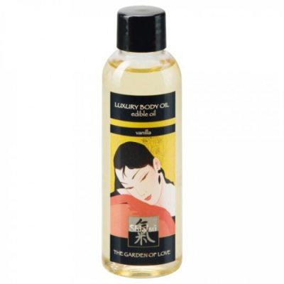 Съедобное масло для тела с ароматом Ванили 100 мл Shiatsu