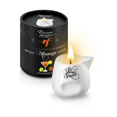 Свеча с массажным маслом с ароматом лимонно-клюквенного коктейля 80 мл