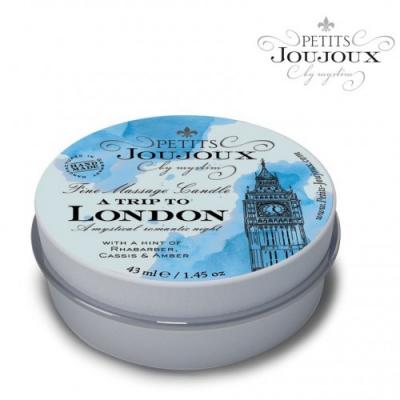 Массажная свеча Petits Joujoux London с ароматом ревеня, амбры и чёрной смородины 33 гр