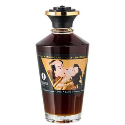 Массажное масло Shunga Cливочный любовный латте, разогревающее, 100мл