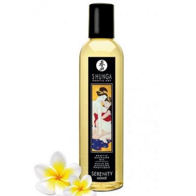 Возбуждающее массажное масло Shunga Serenity с ароматом монои 250 мл
