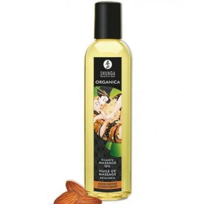 Возбуждающее съедобное массажное масло Shunga Organica сладкий миндаль 250 мл