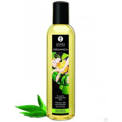 Расслабляющее съедобное массажное масло Shunga Organica Exotic с зеленым чаем 250 мл