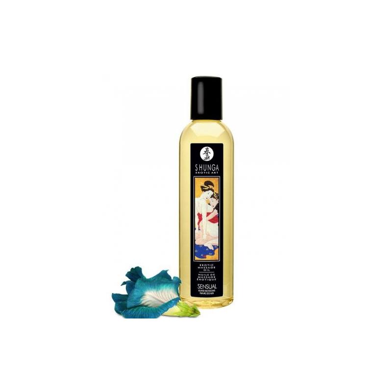Возбуждающее массажное масло Shunga Sensual Island Blossom 250 мл
