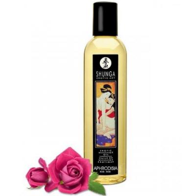 Возбуждающее массажное масло Shunga Aphrodisia с ароматом розы 250 мл