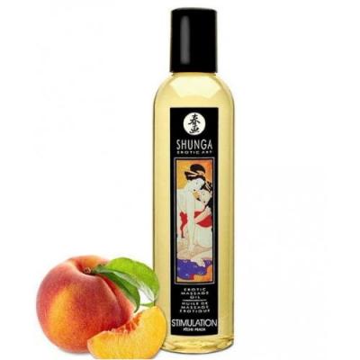 Возбуждающее массажное масло Shunga Stimulation с ароматом персика 250 мл