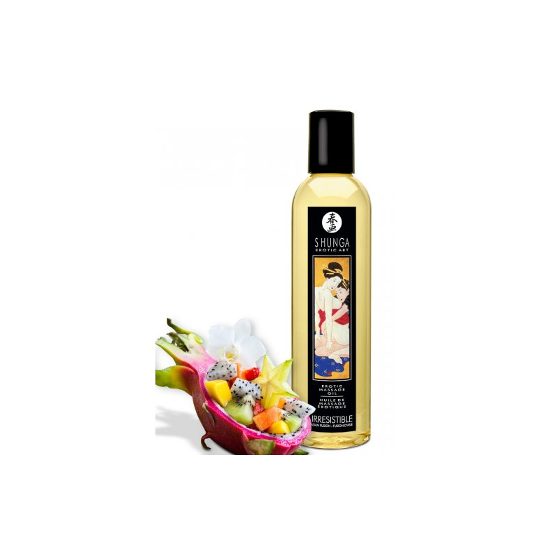 Возбуждающее массажное масло Shunga Irresistible с ароматом азиатских фруктов 250 мл