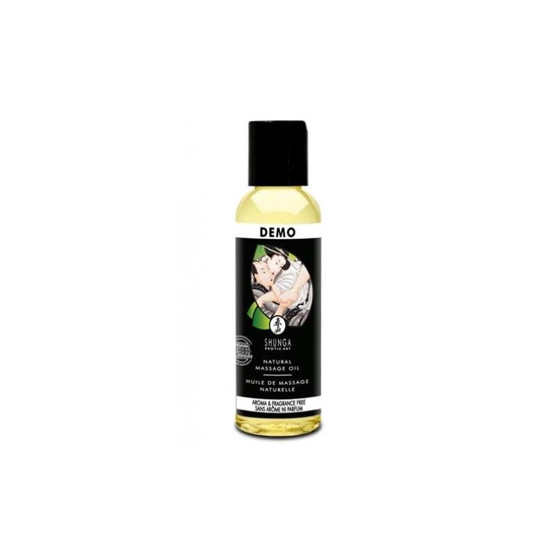 Возбуждающее съедобное массажное масло Shunga Organica Natural без аромата и вкуса 60 мл
