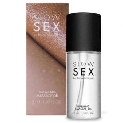 Разогревающее съедобное массажное масло Warming Massage Oil Slow Sex Bijoux Indiscrets, 50 мл