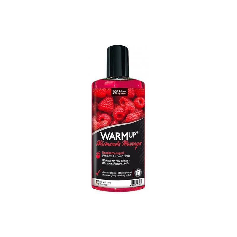 Съедобный разогревающий массажный гель Warm up Raspberry Joy Division малина, 150 мл