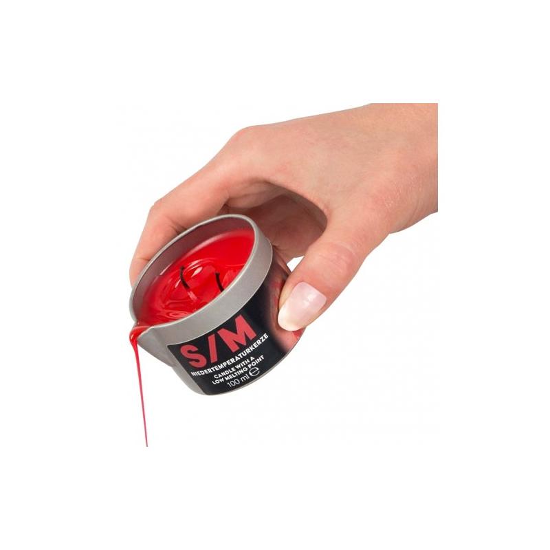 Красная низкотемпературная свеча в тигле с 2 фитилями 100 гр