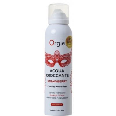 Шипучая увлажняющая пена для чувственного массажа Orgie Acqua Croccante Strawberry, 150 мл