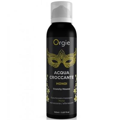 Шипучая увлажняющая пена для чувственного массажа Orgie Acqua Croccante Monoi, 150 мл