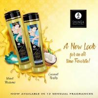 Массажное масло Shunga Erotic Aphrodisia с ароматом розы 240 мл