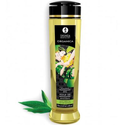 Съедобное массажное масло Shunga Organica Exotic с зеленым чаем 240 мл