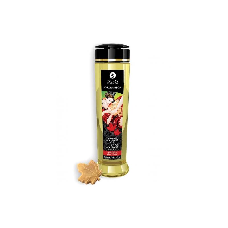 Съедобное массажное масло Shunga Organica кленовый восторг 240 мл