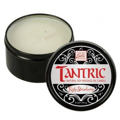 Массажная свеча с феромонами аромат клубники Tantric Tasty Strawberry