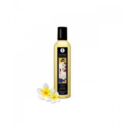 Возбуждающее массажное масло Shunga Serenity с ароматом моной, 250 мл.