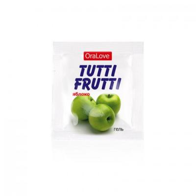 Съедобный лубрикант со вкусом яблоко Tutti-Frutti OraLove 4 мл, пробник