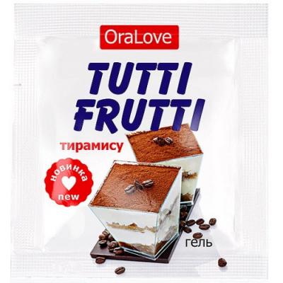 Съедобный лубрикант со вкусом тирамису Tutti-Frutti OraLove 4 мл, пробник