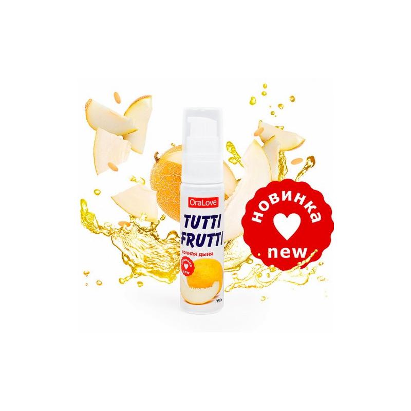 Съедобный лубрикант Tutti-Frutti OraLove сочная дыня 30 гр