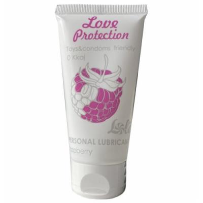 Съедобный лубрикант с ароматом малины Lola Games Love Protection Raspberry 50 мл