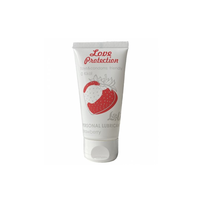 Съедобный лубрикант с ароматом клубники Lola Games Love Protection Strawberry 50 мл
