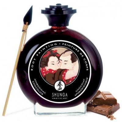 Съедобная крем-краска для тела Shunga Aphrodisiac Chocolate шоколад 100 мл