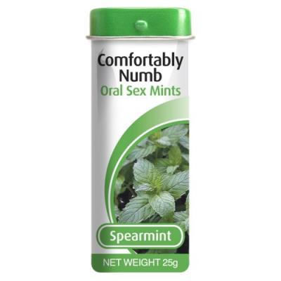 Леденцы для орального секса со вкусом мяты Comfortably Numb Oral Sex Mints 25 гр