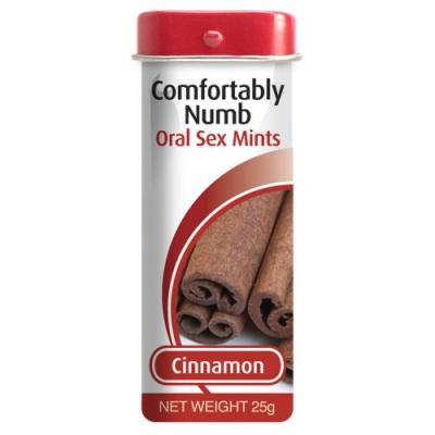 Леденцы для орального секса со вкусом корицы Comfortably Numb Oral Sex Mints 25 гр