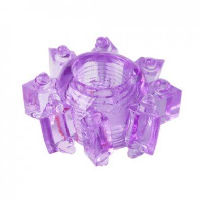 Тянущееся фиолетовое кольцо для эрекции Toyfa