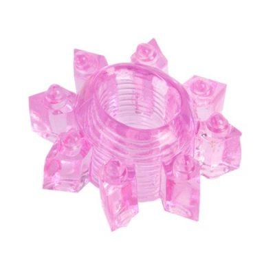 Тянущееся розовое кольцо для эрекции Toyfa
