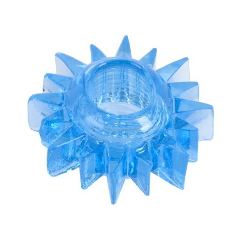 Эластичное голубое кольцо для эрекции Toyfa
