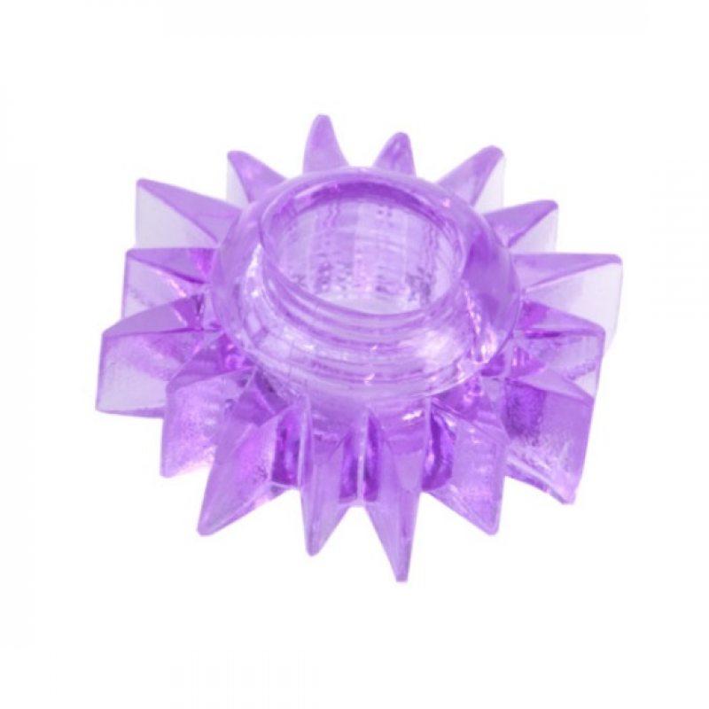 Эластичное фиолетовое кольцо для эрекции Toyfa