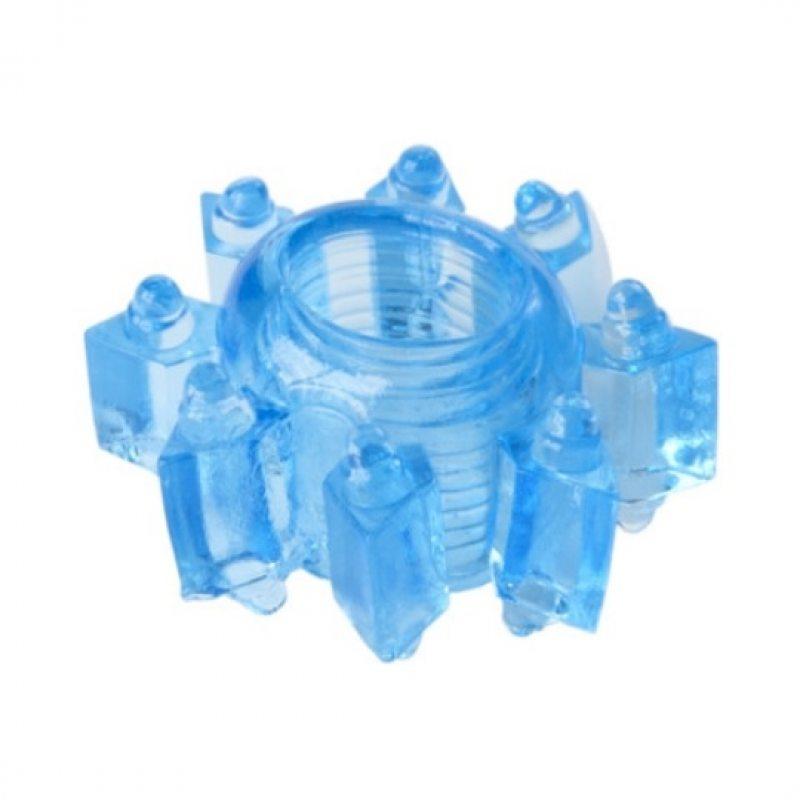 Тянущееся голубое кольцо для эрекции Toyfa